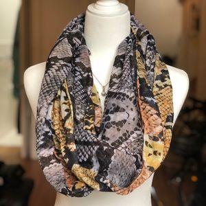 H&M snake print circle scarf